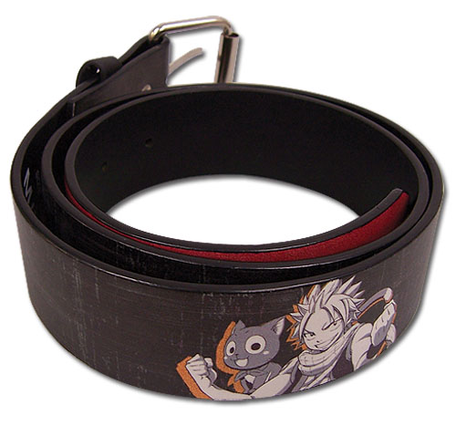 Fairy Tail - Natsu & Happy Pu Belt L, an officially licensed product in our Fairy Tail Belts & Buckles department.
