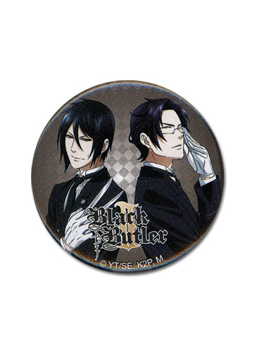 Black Butler 2 Sebastian & Claude 1.25 Button, an officially licensed Black Butler product at B.A. Toys.