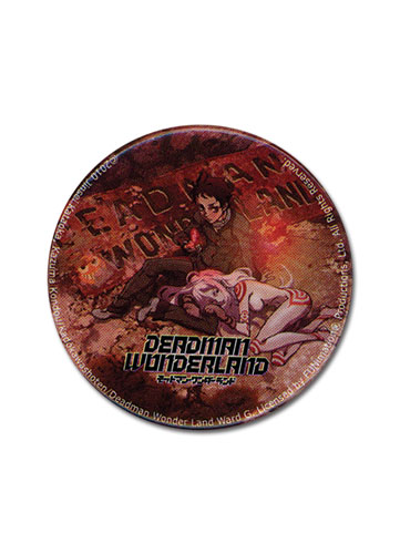 Deadman Wonderland Prison Symbol 1.25' Button officially licensed Deadman Wonderland Buttons product at B.A. Toys.