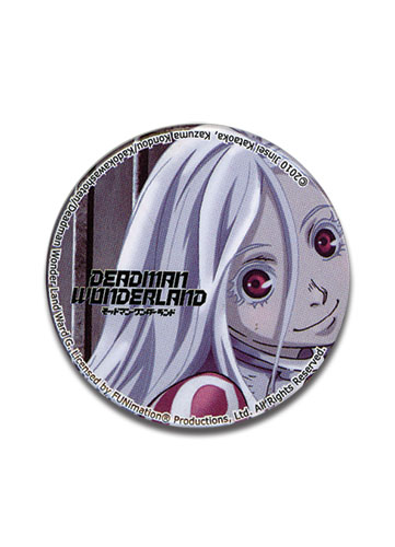 Deadman Wonderland Shiro 1.25 Button, an officially licensed Deadman Wonderland product at B.A. Toys.