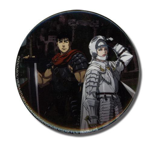 Berserk Guts& Griffith 3 Button, an officially licensed Berserk product at B.A. Toys.