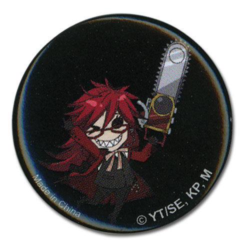 Black Butler Sd Grell1.25' Button, an officially licensed Black Butler Button