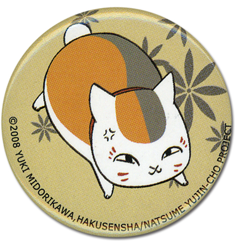 Natsume's Book Of Friends - Running Nyanko Button officially licensed Natsume'S Book Of Friends Buttons product at B.A. Toys.