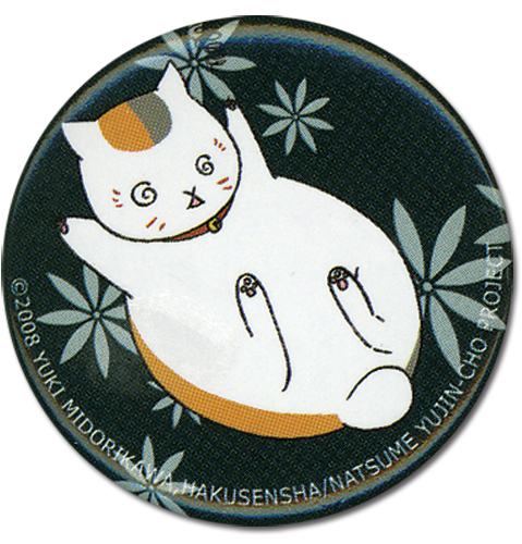 Natsume's Book Of Friends - Dizzy Nyanko Button, an officially licensed product in our Natsume'S Book Of Friends Buttons department.