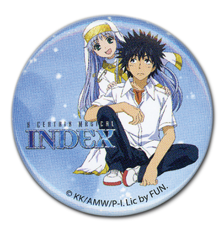 A Certain Magical Indez - Touma & Index Button 1.25'', an officially licensed product in our Everything Else Buttons department.