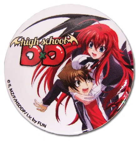 High School Dxd - Issei & Rias Button 1.25'', an officially licensed High School Dxd product at B.A. Toys.