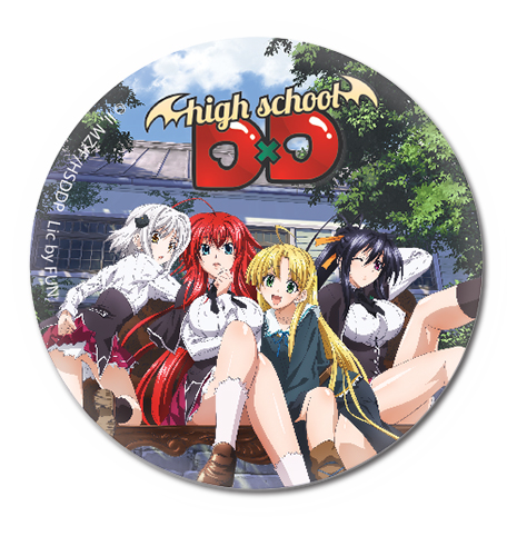 High School Dxd - Girls Group Button 1.25, an officially licensed High School Dxd product at B.A. Toys.