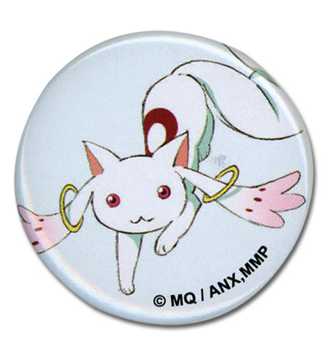 Madoka Magica Movie - Kyubey Button 1.25'' officially licensed Madoka Magica Buttons product at B.A. Toys.