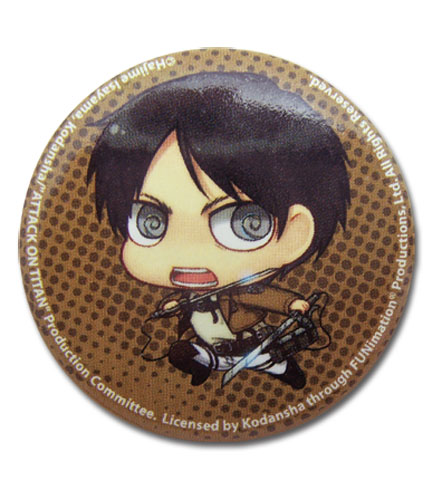 Attack On Titan - Sd Efren Button, an officially licensed Attack On Titan product at B.A. Toys.