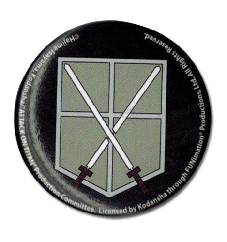 Attack On Titan - 104Th Trainees Squad Emblem Button, an officially licensed product in our Attack On Titan Buttons department.