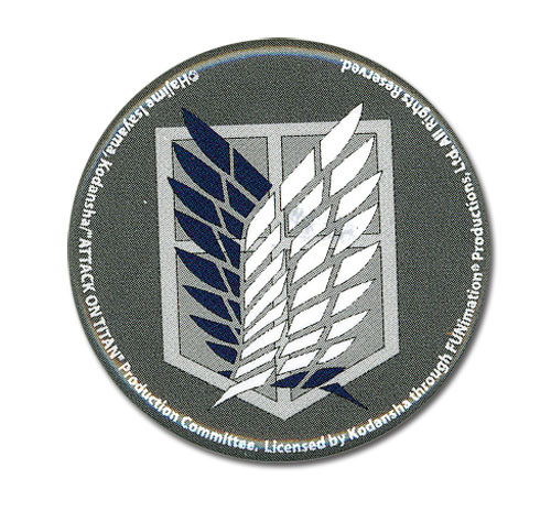 Attack On Titan - Scouting Legion Emblem Button 1.25'' officially licensed product at B.A. Toys.