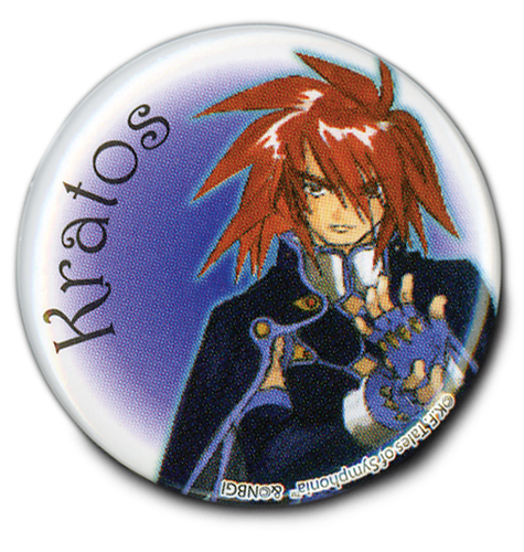 Tales Of Symphonia - Kratos Button 1.25'' officially licensed Tales Of Symphonia Buttons product at B.A. Toys.