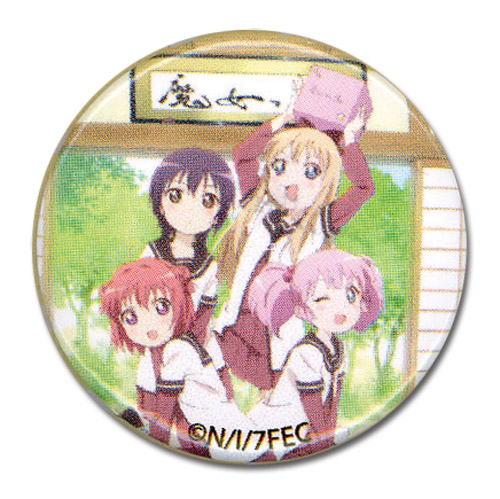 Yuruyuri - Classroom Group 1.25'' Button, an officially licensed product in our Yuru Yuri Buttons department.