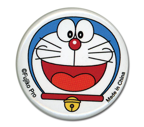 Doraemon - Doraemon Happy Face Button 1.25'' officially licensed product at B.A. Toys.