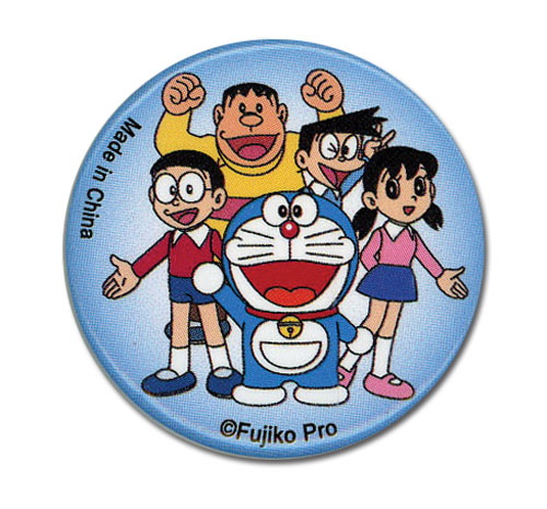 Doraemon - Doraemon & Friends Button 1.25'', an officially licensed Doraemon Button