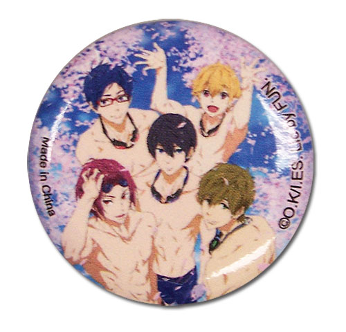 Free! 2 - Group Sakura Pool Button