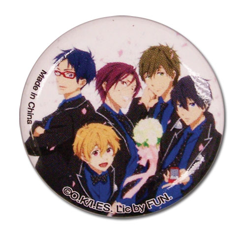 Free! 2 - Group In Suits Button 1.25