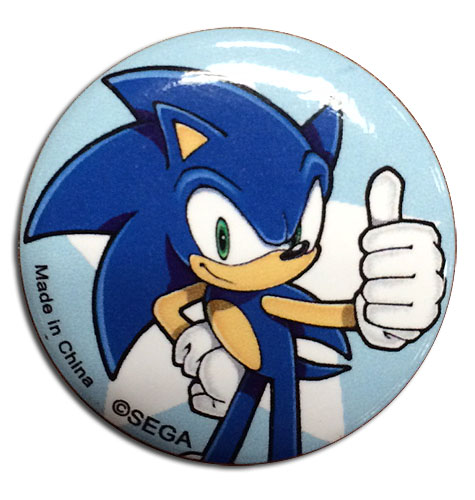 Sonic The Hedgehog - Sonic Button 1.25'' officially licensed Sonic Buttons product at B.A. Toys.
