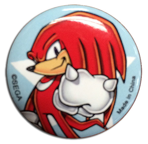 Sonic The Hedgehog - Knuckles 1.25'' Button officially licensed Sonic Buttons product at B.A. Toys.