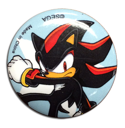 Sonic The Hedgehog - Shadow 1.25'' Button officially licensed Sonic Buttons product at B.A. Toys.