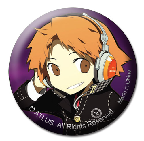 Persona Q - Yosuke Button 1.25'' officially licensed Persona Buttons product at B.A. Toys.