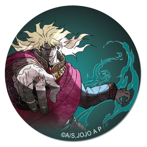 Jojo - Dio Flames Button, an officially licensed product in our Jojo'S Bizarre Adventure Buttons department.