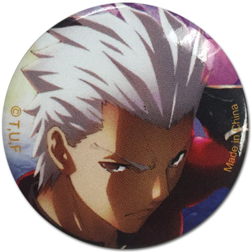 Fate/Stay Night - Archer Button 1.25'', an officially licensed product in our Fate/Zero Buttons department.
