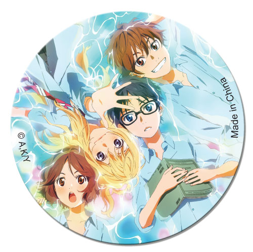Your Lie In April - Group Button officially licensed Your Lie In April Buttons product at B.A. Toys.