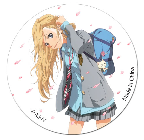 Your Lie In April - Kaori Cherry Blossom Button, an officially licensed product in our Your Lie In April Buttons department.