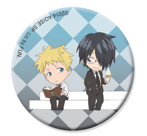 Soul Eater Not! - Akane & Clay Sd Button 1.25'', an officially licensed product in our Soul Eater Not! Buttons department.
