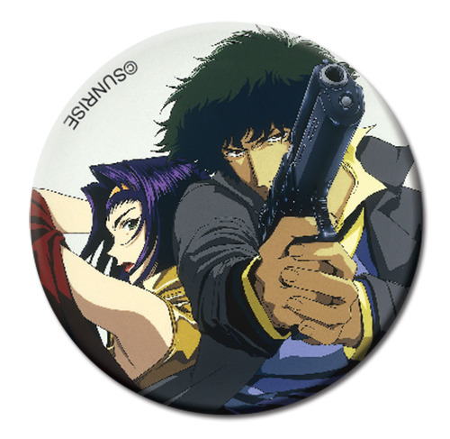 Cowboy Bebop - Spike & Fate Button 1.25'', an officially licensed product in our Cowboy Bebop Buttons department.