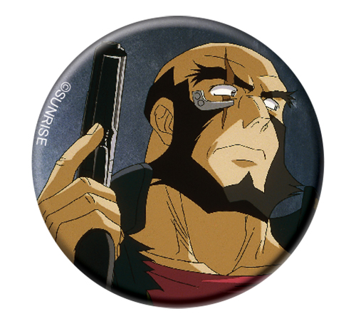 Cowboy Bebop - Jet Button 1.25'', an officially licensed product in our Cowboy Bebop Buttons department.