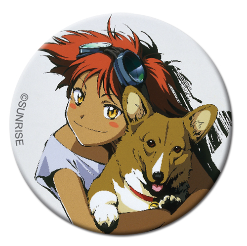 Cowboy Bebop - Edward Button 1.25'' officially licensed Cowboy Bebop Buttons product at B.A. Toys.