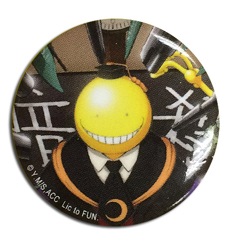 Assassination Classroom - Koro Sensei Key Art Button 1.25'' officially licensed Assassination Classroom Buttons product at B.A. Toys.