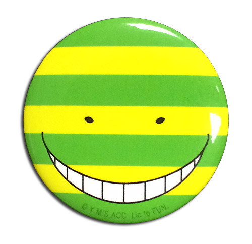 Assassination Classroom - Koro Sensei Mock Button 1.25'', an officially licensed product in our Assassination Classroom Buttons department.