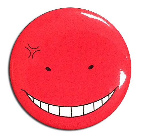 Assassination Classroom - Koro Sensei Angry Button 1.25'' officially licensed Assassination Classroom Buttons product at B.A. Toys.