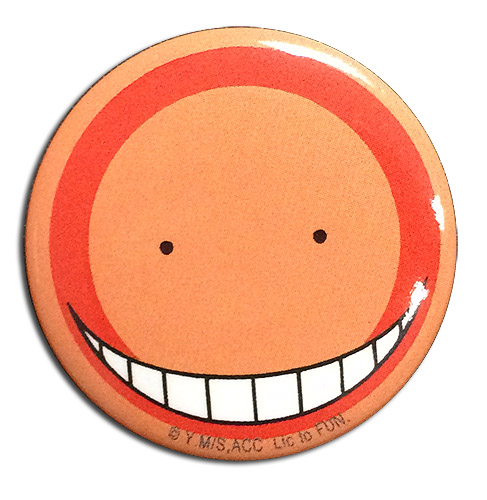 Assassination Classroom - Koro Sensei Correct Answer Button 1.25, an officially licensed Assassination Classroom product at B.A. Toys.
