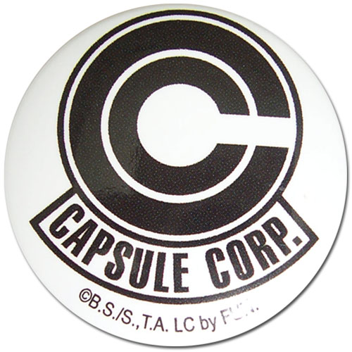 Dragon Ball Z - Capsule Corp 1.25'' Button officially licensed Dragon Ball Z Buttons product at B.A. Toys.