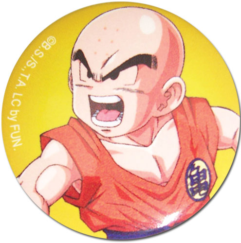 Dragon Ball Z - Krillin 1.25'' Button officially licensed Dragon Ball Z Buttons product at B.A. Toys.