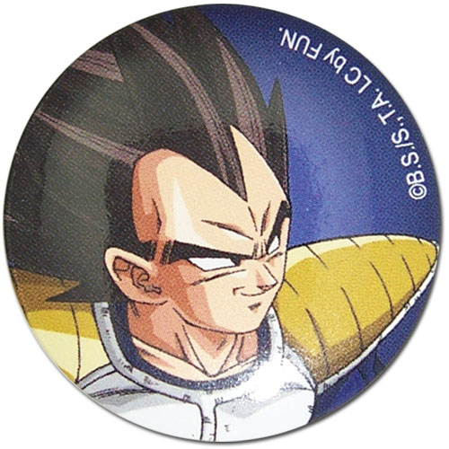 Dragon Ball Z - Vegeta 1.25'' Button, an officially licensed product in our Dragon Ball Z Buttons department.