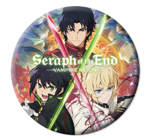 Seraph Of The End - Yuchiro, Mikaela & Guren Button 1.25'' officially licensed Seraph Of The End Buttons product at B.A. Toys.