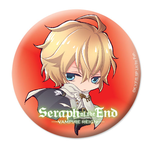 Seraph Of The End - Sd Mikaela Button 1.25'', an officially licensed product in our Seraph Of The End Buttons department.