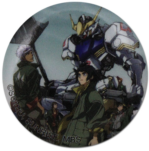 Gundam Iron Blooded Orphans - Group Button 1.25'' officially licensed Gundam Iron-Blooded Orphans Buttons product at B.A. Toys.