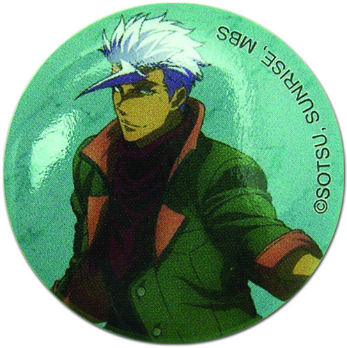 Gundam Iron Blooded Orphans - Orga Itsuki Button 1.25'' officially licensed Gundam Iron-Blooded Orphans Buttons product at B.A. Toys.
