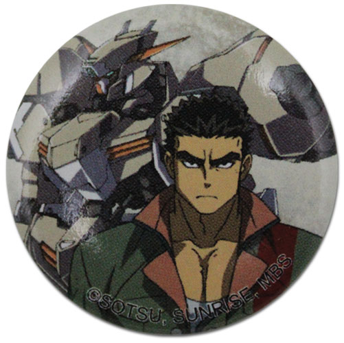 Gundam Iron Blooded Orphans - Akihiro & Gundam Button 1.25'' officially licensed Gundam Iron-Blooded Orphans Buttons product at B.A. Toys.