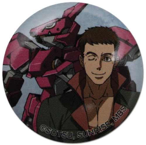 Gundam Iron Blooded Orphans - Norba & Gundam Button 1.25'', an officially licensed Gundam Iron-Blooded Orphans product at B.A. Toys.