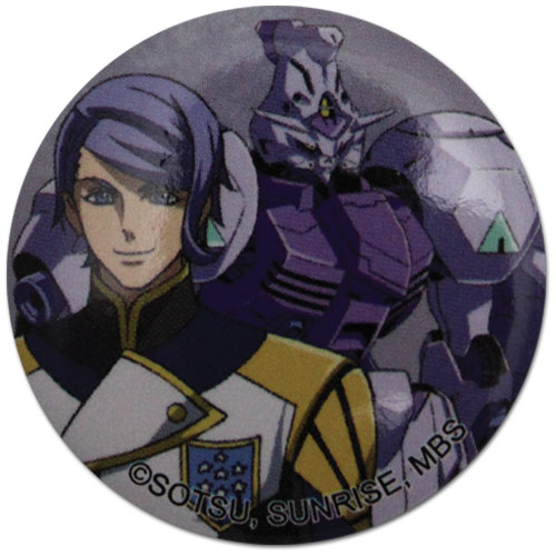 Gundam Iron Blooded Orphans - Gaelio & Gundam Button 1.25'' officially licensed Gundam Iron-Blooded Orphans Buttons product at B.A. Toys.