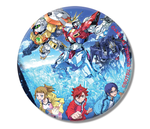 Gundam Build Fighters Try - Group Button 1.25'' officially licensed Gundam Build Fighters Try Buttons product at B.A. Toys.