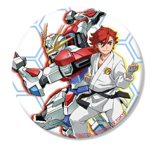 Gundam Build Fighters Try - Sekai & Build Burning Gundam Button 1.25'' officially licensed Gundam Build Fighters Try Buttons product at B.A. Toys.