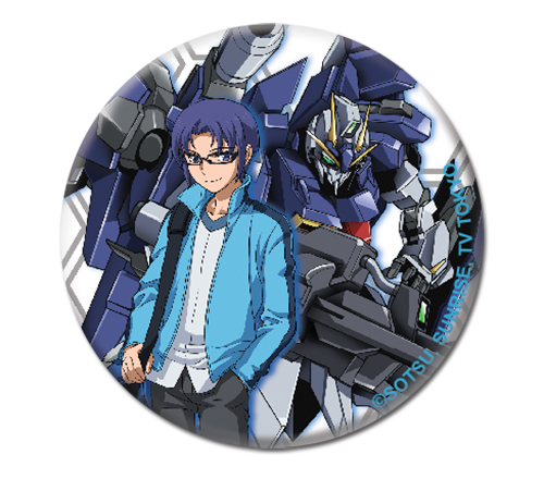 Gundam Build Fighters Try - Yuuma & Lightning Button 1.25'' officially licensed Gundam Build Fighters Try Buttons product at B.A. Toys.